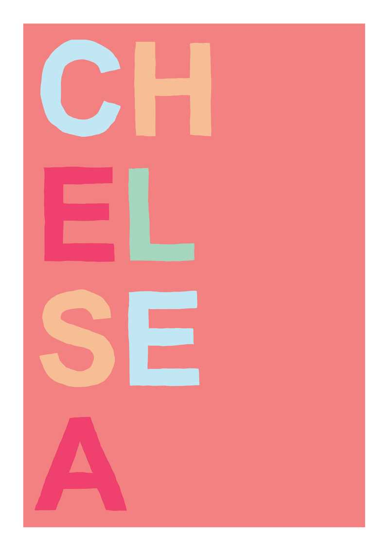Oli Fowler, Chelsea, Screen print, Edition of 50, 50x70cm, Framed: £240, Unframed: £120, 2019