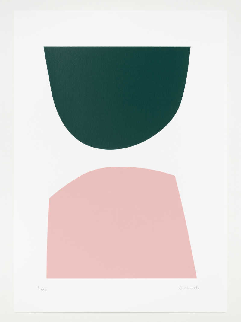 Seraphina Neville, Pink & Green, 2 colour screen print, Edition of 30, 297 x 420mm, Unframed: £60.00, 2020