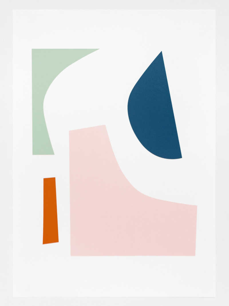Seraphina Neville, Slice, 4 colour screen print, Edition of 20, 297 x 420mm, Unframed: £90.00, 2021