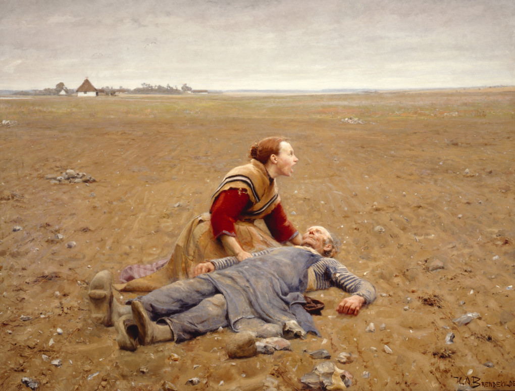 H. A. Brendekilde - Udslidt (1889)
