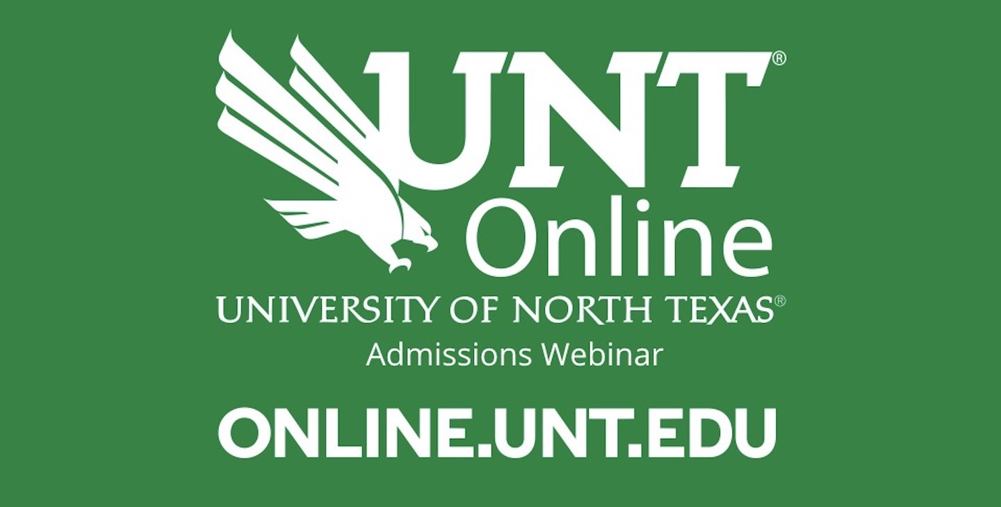 Webinar: Admissions for the University of North Texas Bachelor of Applied Arts and Sciences (B.A.A.S.)