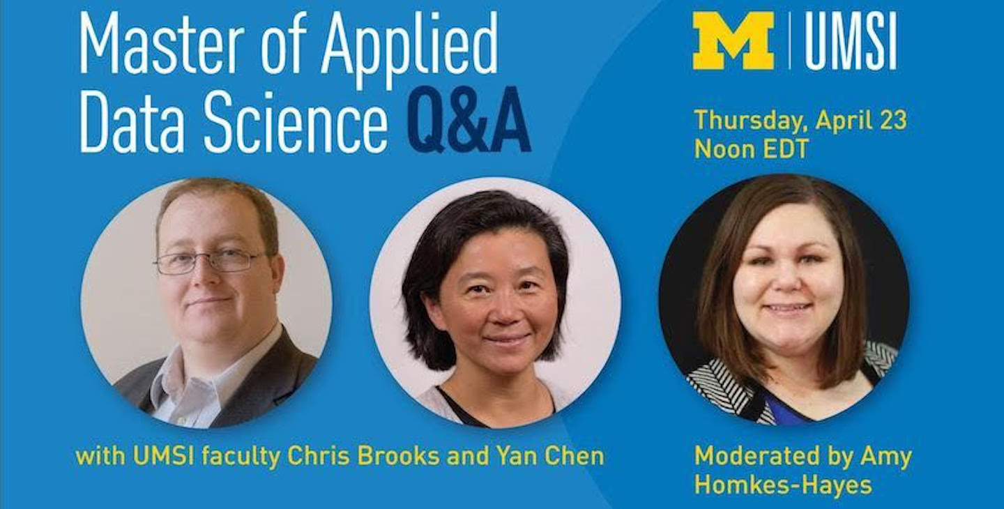 Master of Applied Data Science Live Q&A with Faculty