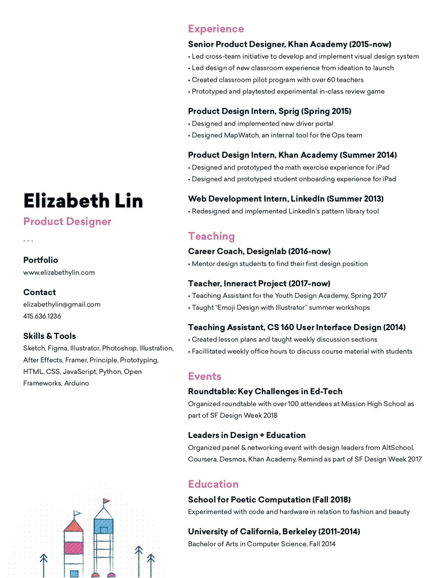 elizabeth lin senior product designer resume