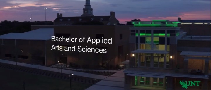 Learn more about University of North Texas' Bachelor of Applied Arts and Sciences Degree