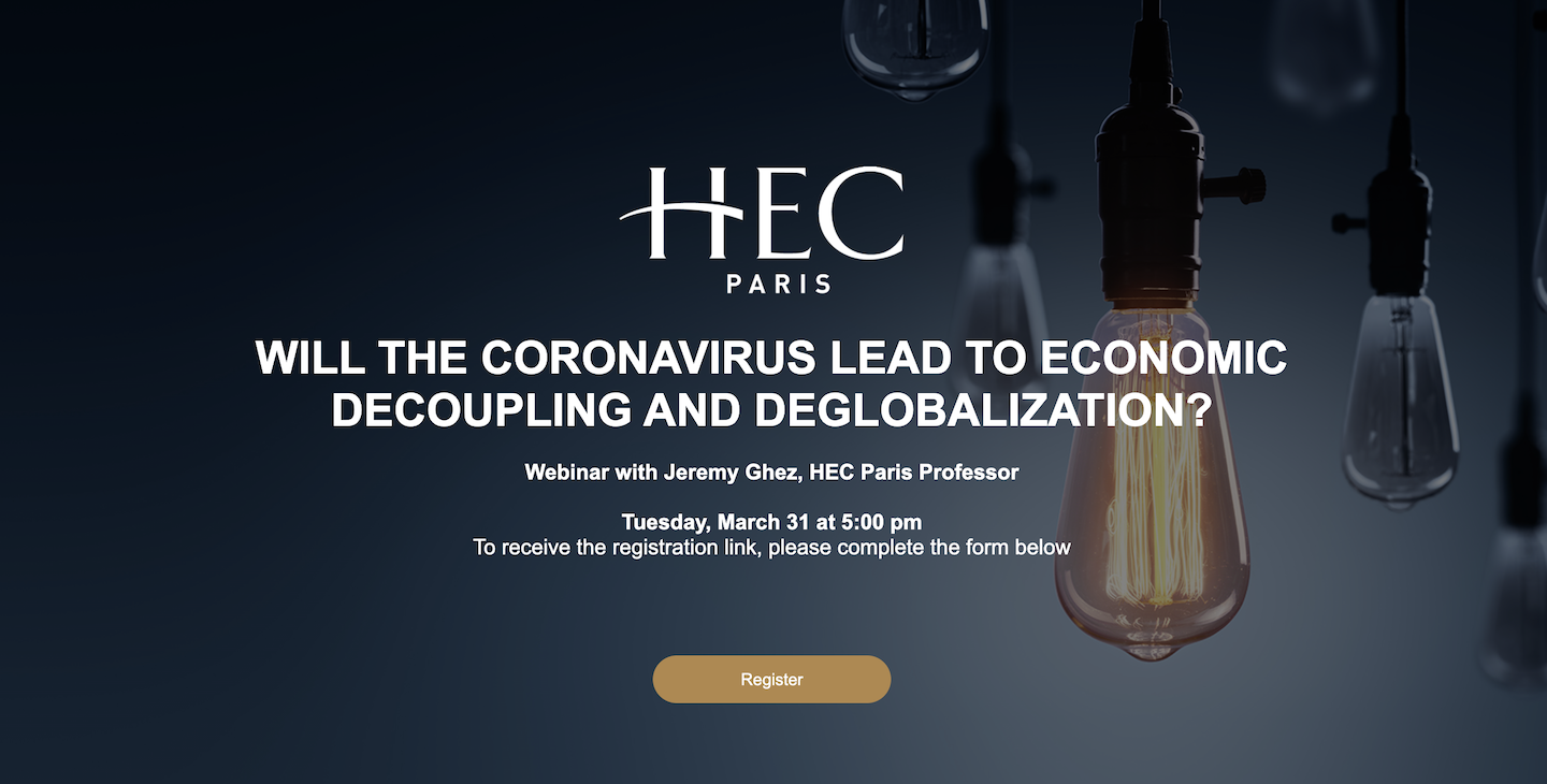 HEC Paris upcoming webinars