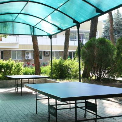 Настольный теннис в санатории Им. Ломоносова