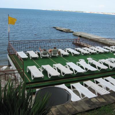 Пляж в санатории Им. Ломоносова