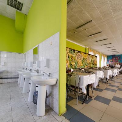 Санаторий Юность вход в обеденный зал