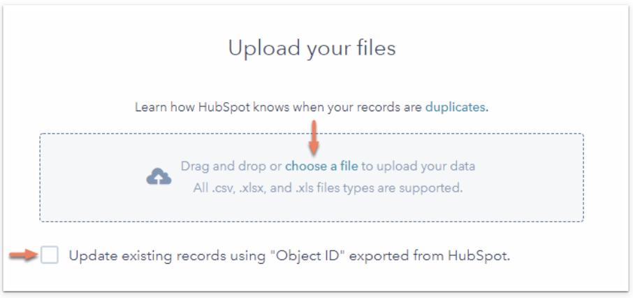 HubSpot's File Upload tool