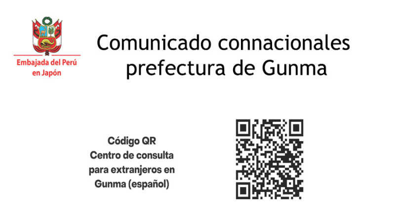 Comunicado connacionales prefectura de Gunma