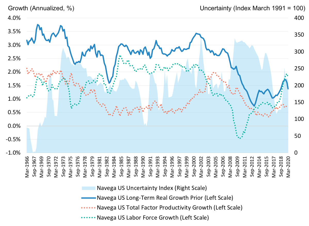 US Long-Term Growth and Uncertainty