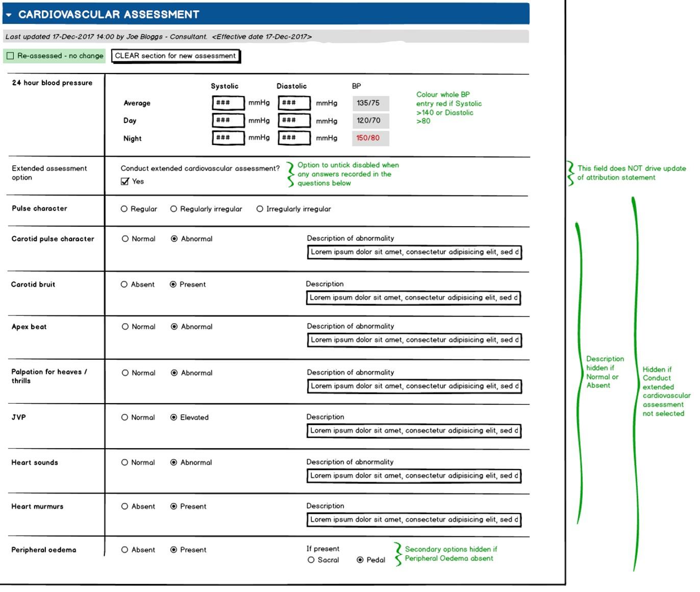 WISDM Cardiovascular Assessment