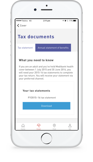 Access your tax statement