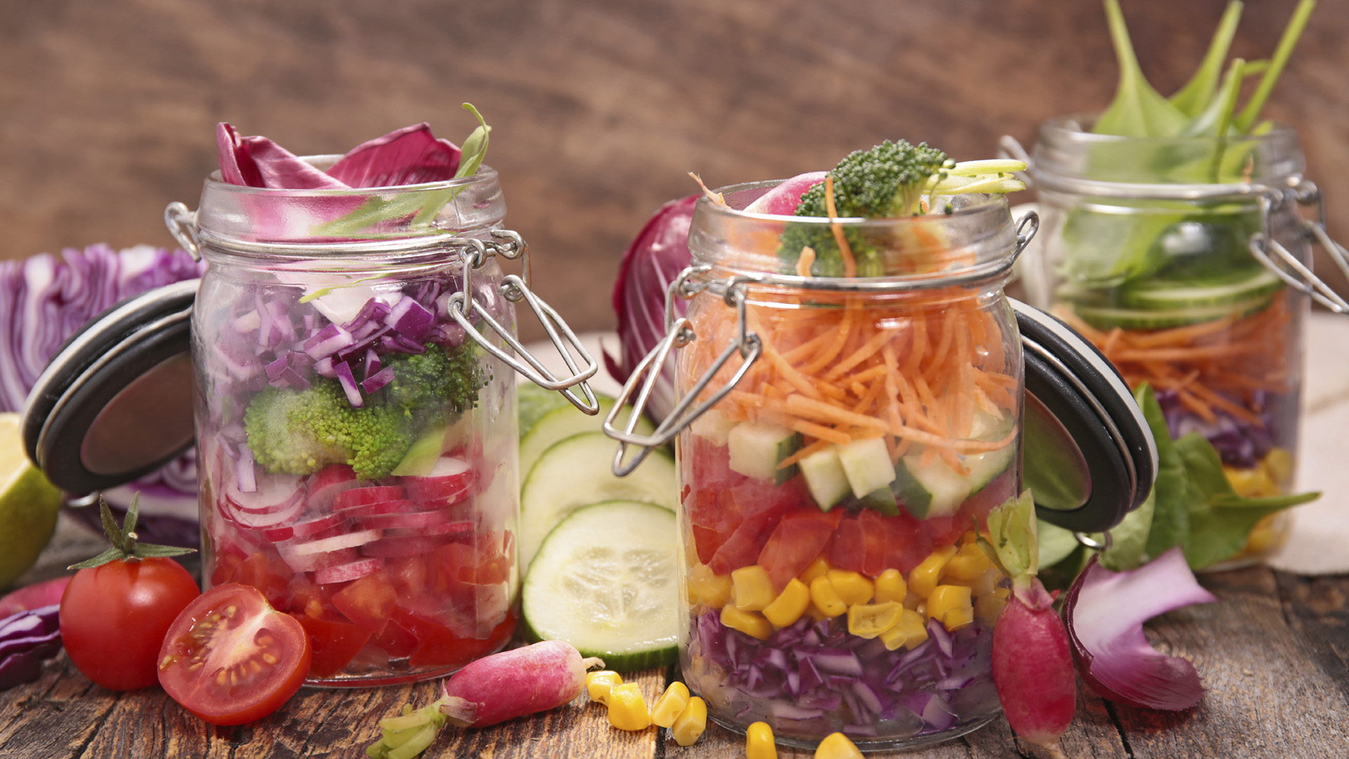 salad in jar