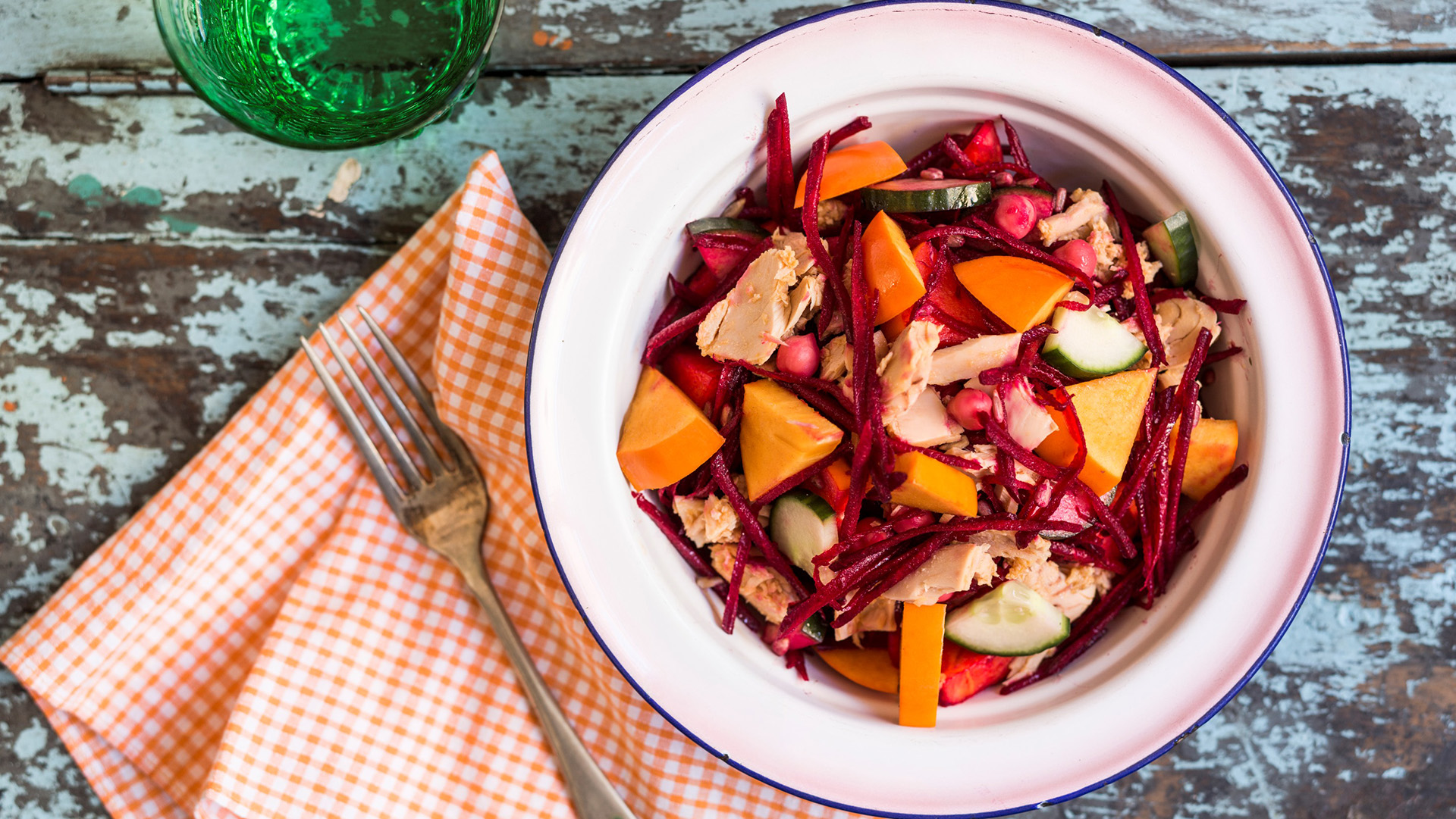 tuna-persimmon-and-beetroot-salad