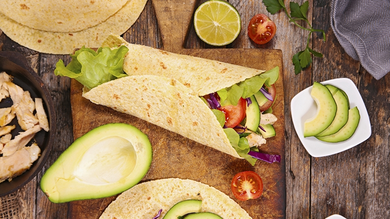 chicken-wrap-avocado