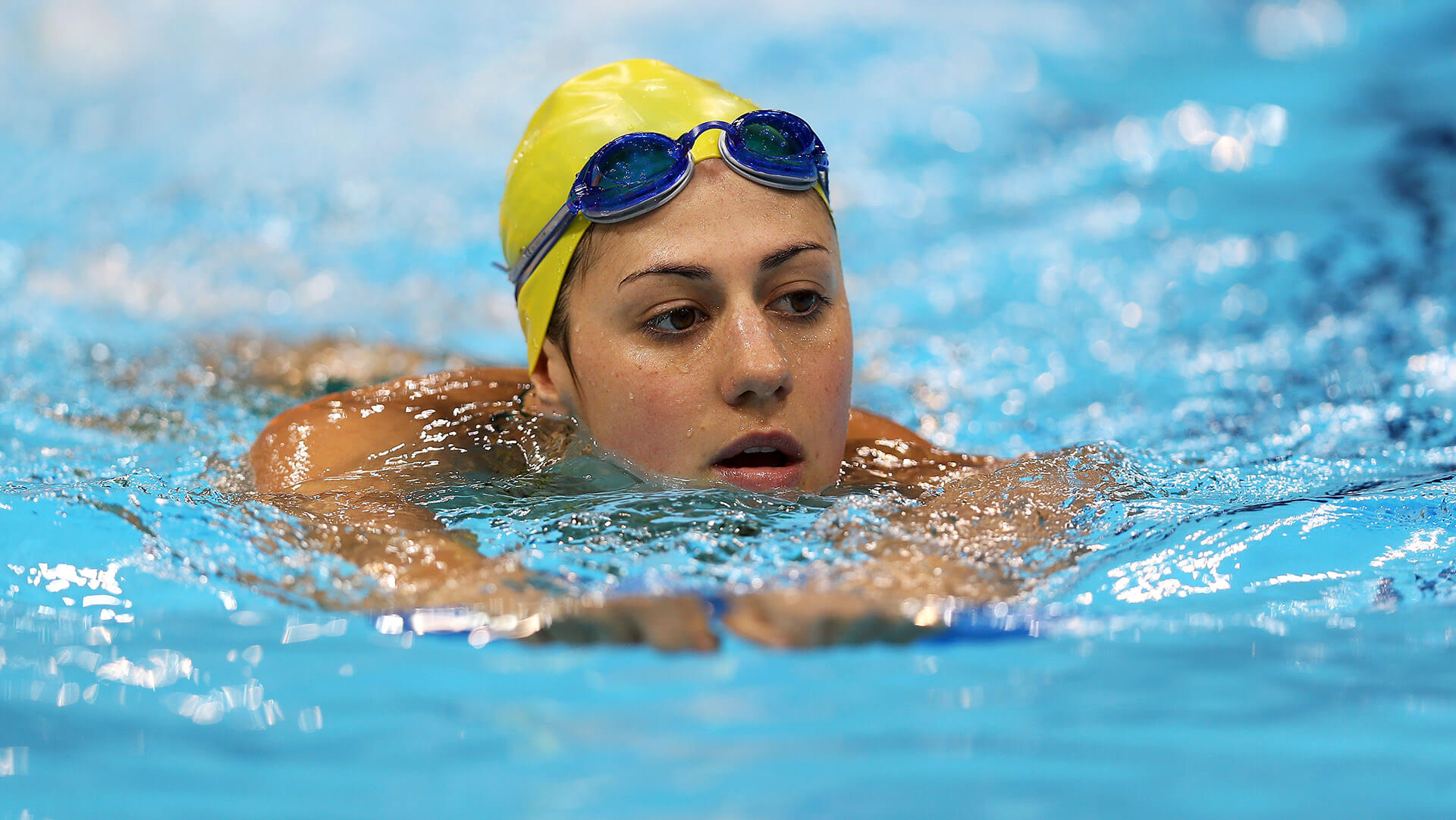 LONDON, ENGLAND - JULY 24:  Stephanie Rice of Australia swims during a training session ahead of the London Olympic Games at the Aquatics Centre in Olympic Park on July 24, 2012 in London, England.  (Photo by Clive Rose/Getty Images)