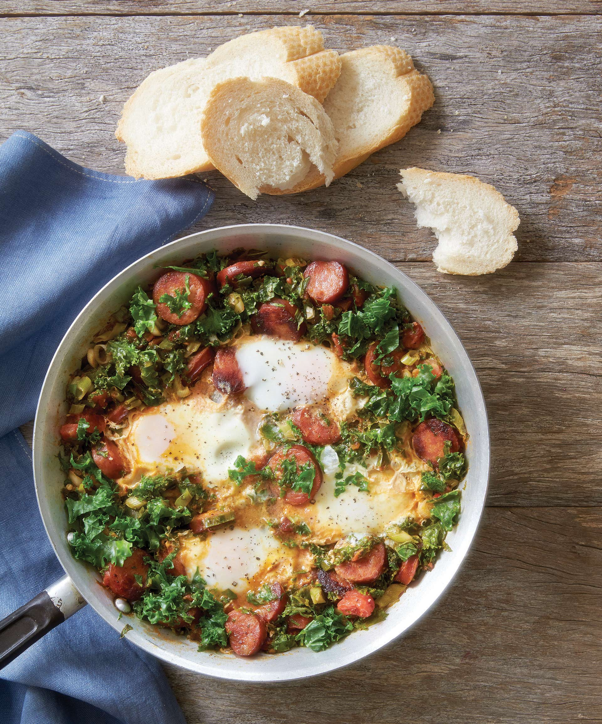 kale-with-chorizo-sausage-and-eggs
