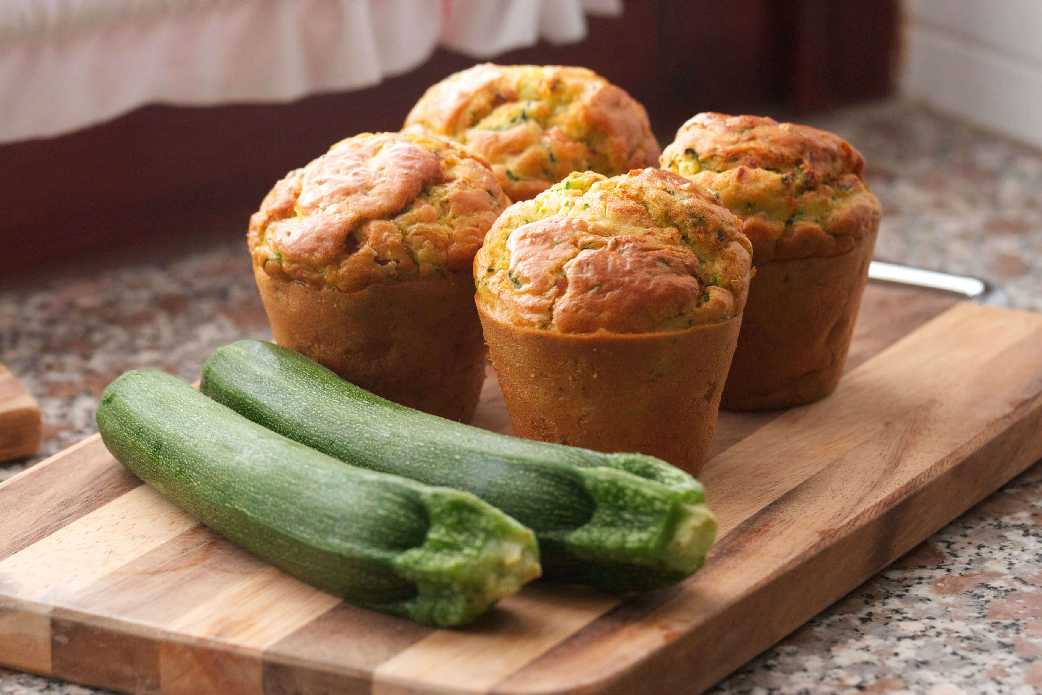 Cheesy corn and zucchini muffin recipe