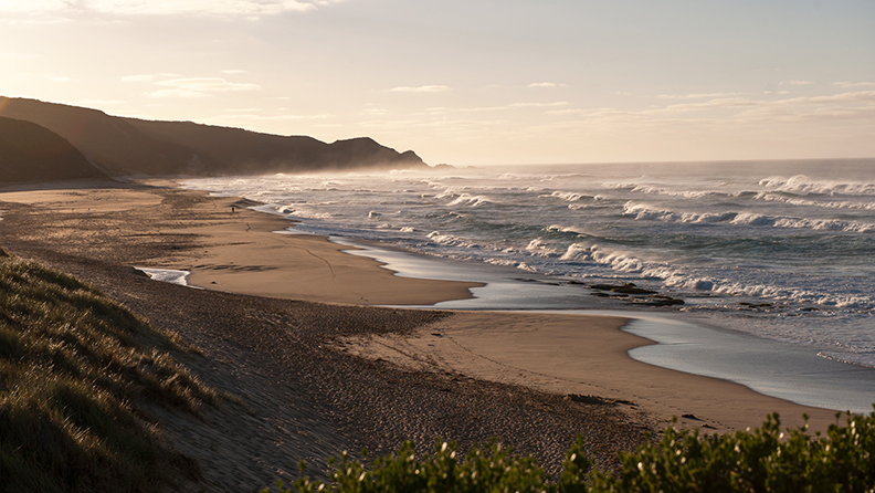 Morning view of Johanna beach from the camping ground lookout