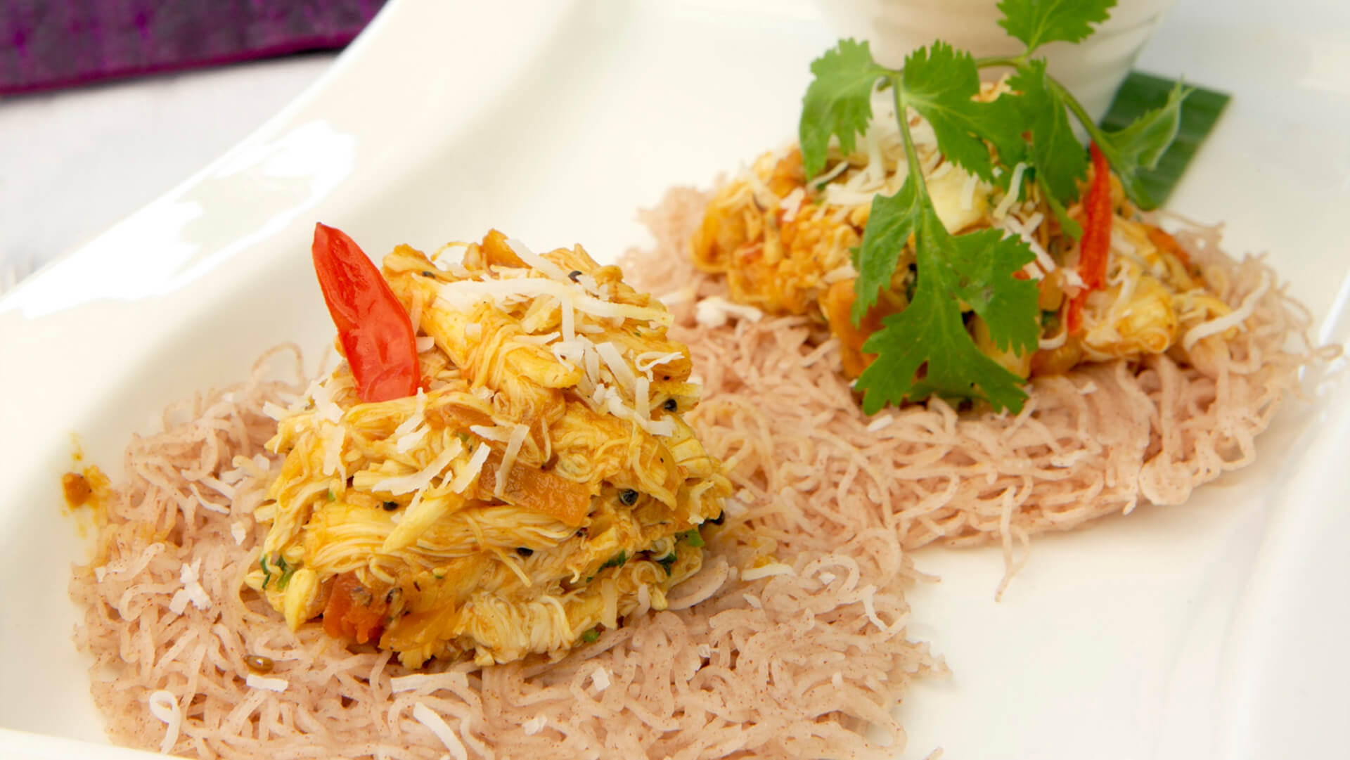 Crab idiappam by Aki's Indian