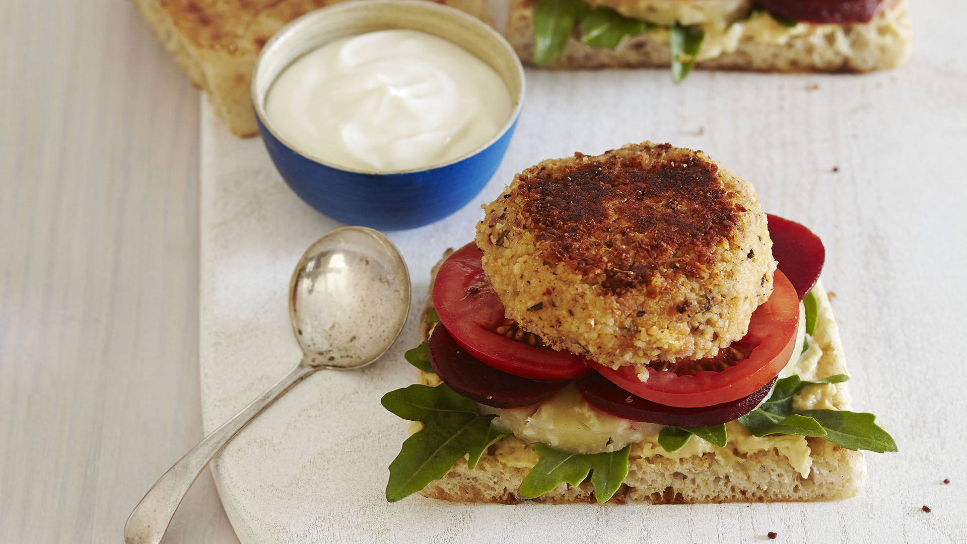 Couscous and Cannellini Bean Burgers