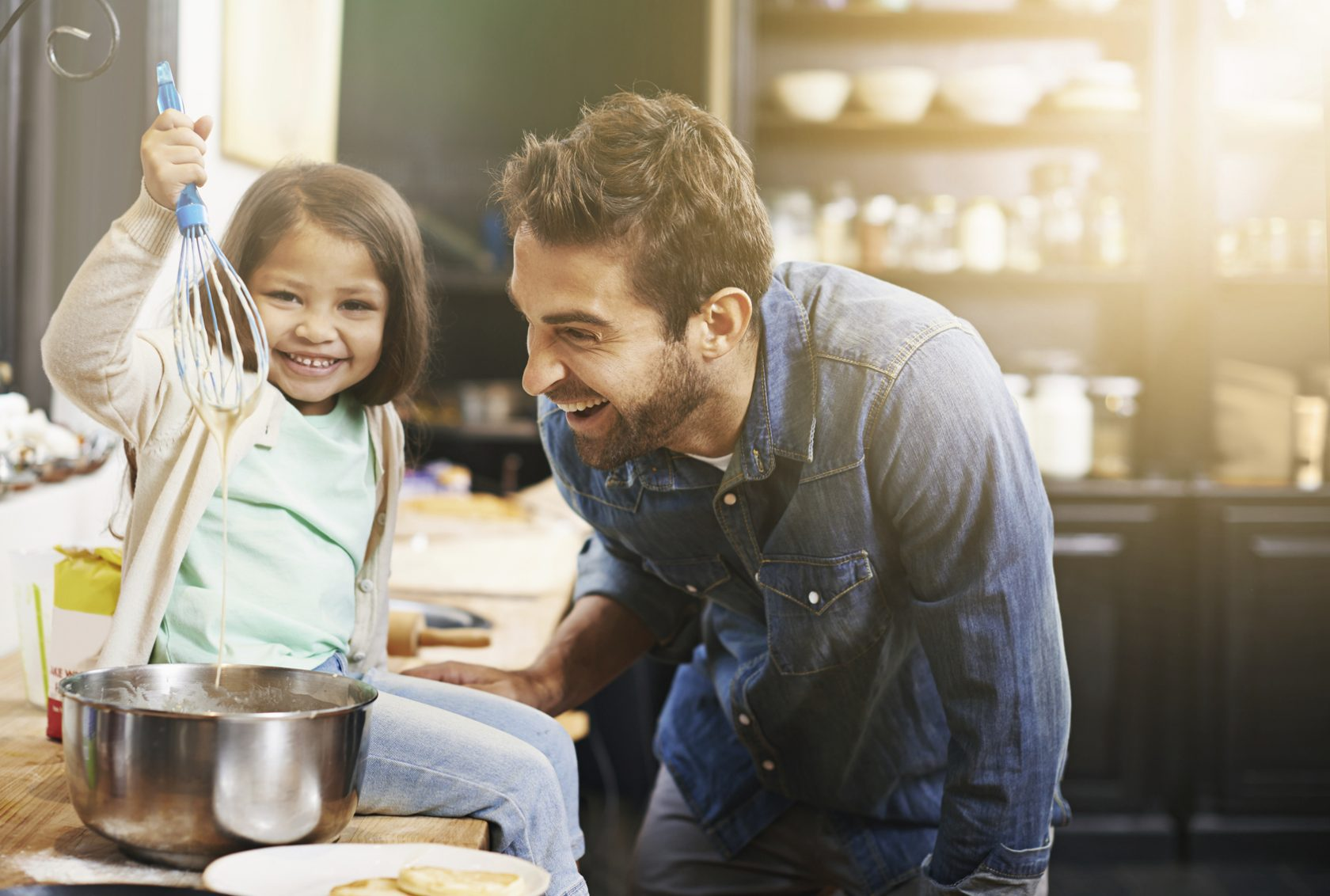 It's good to make time to cook and prepare meals with your child