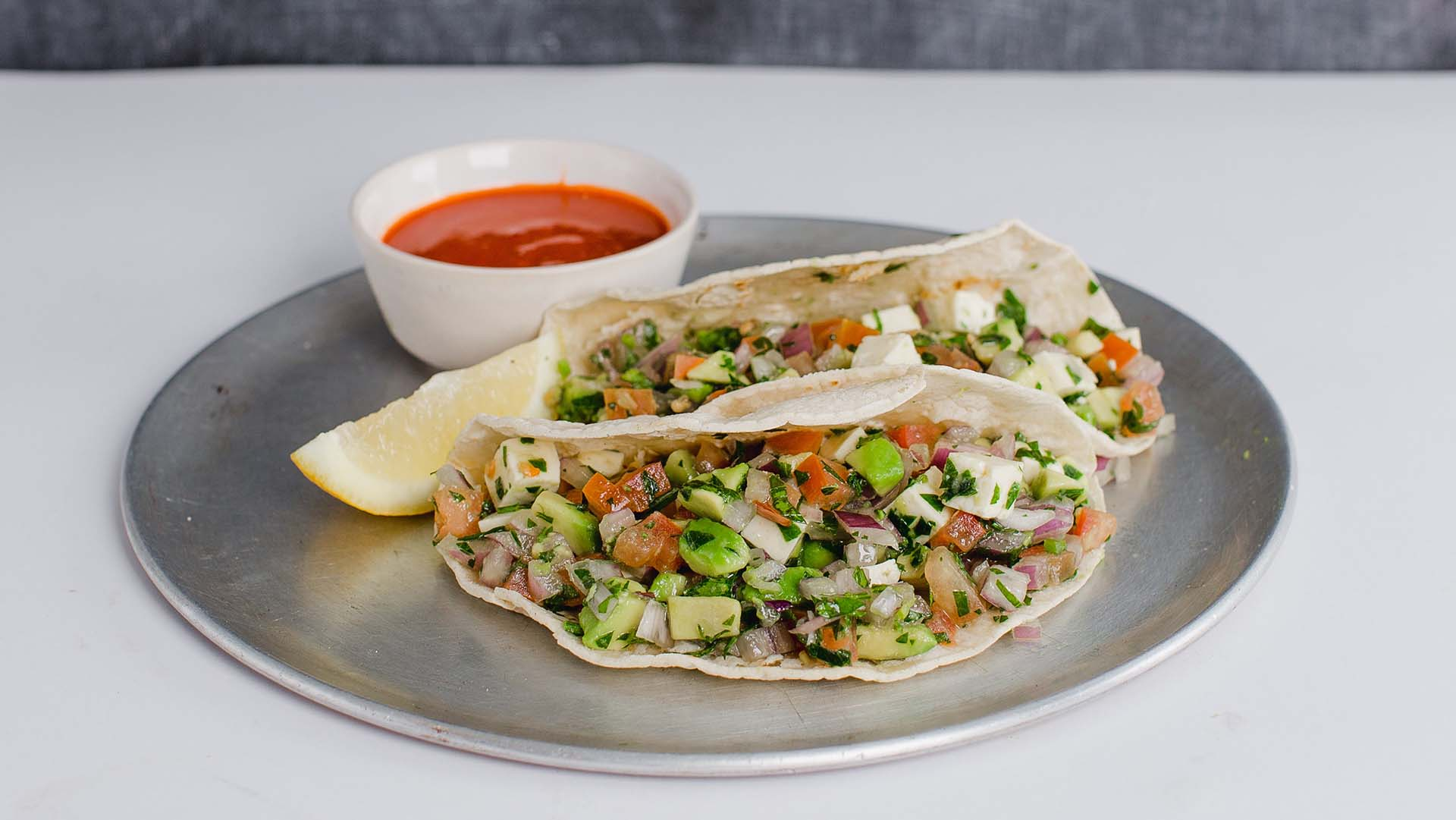 be_Pico de gallo and avocado tacos