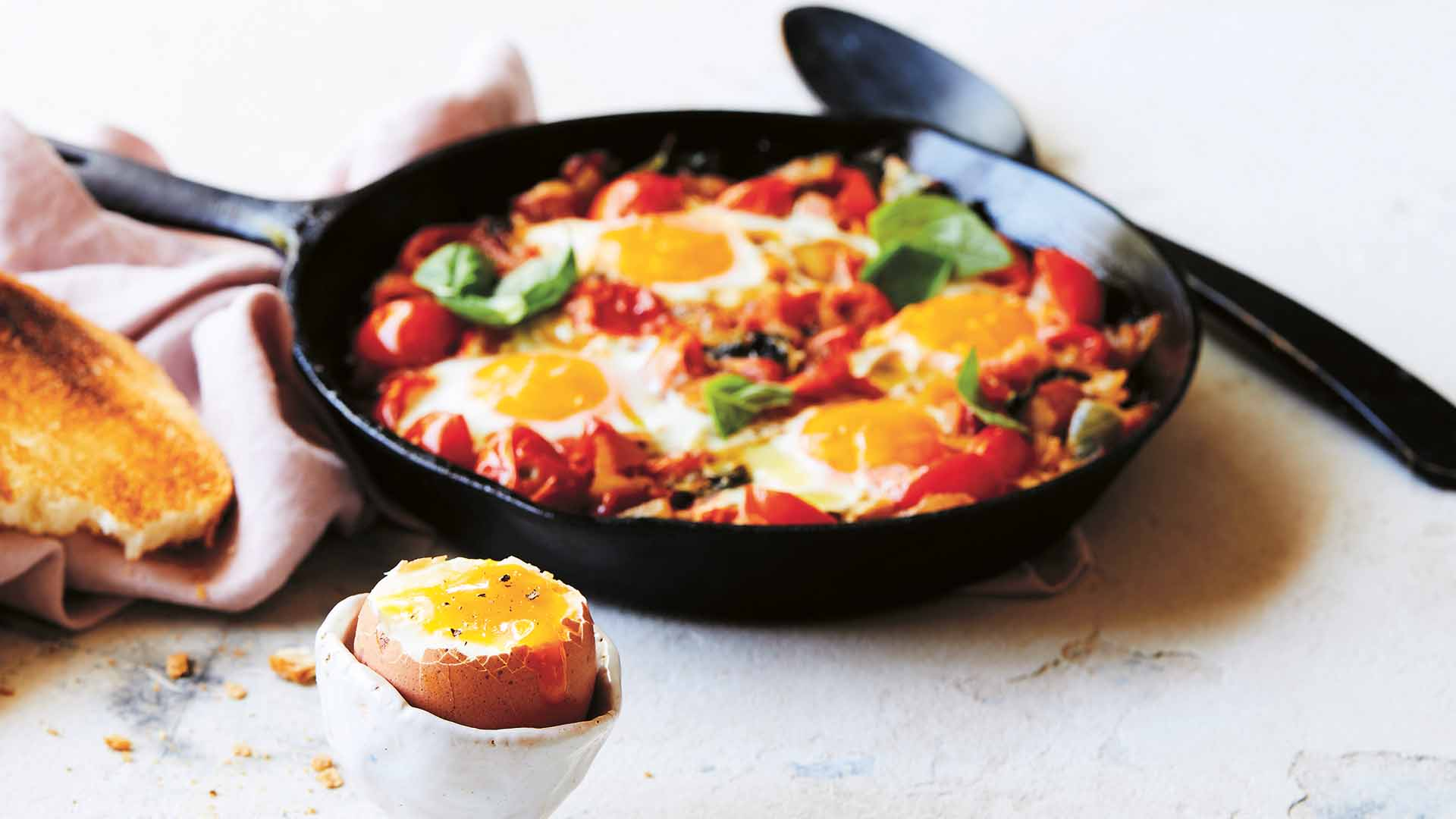 be_Stove-baked weekend eggs recipe