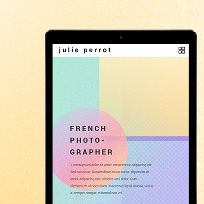 Julie Perrot - Website