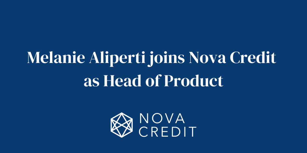 Melanie Aliperti joins Nova Credit as Head of Product