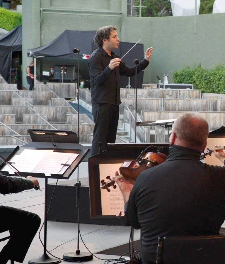 Gustavo Dudamel leads the Los Angeles Philharmonic.