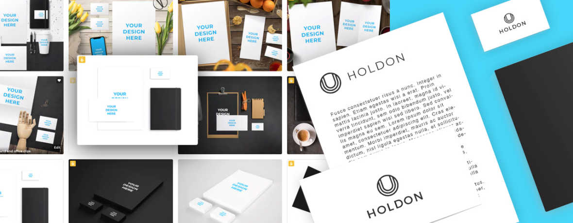 New brand identity made in few seconds with branding mockups