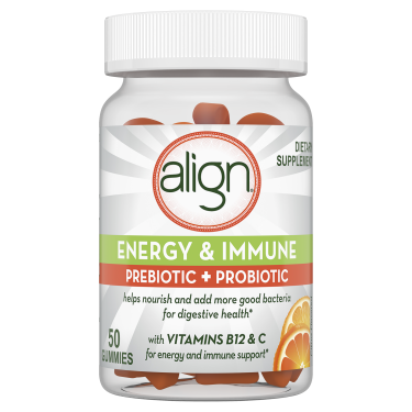 Align Energy & Immune Prebiotic + Probiotic Supplement Gummies