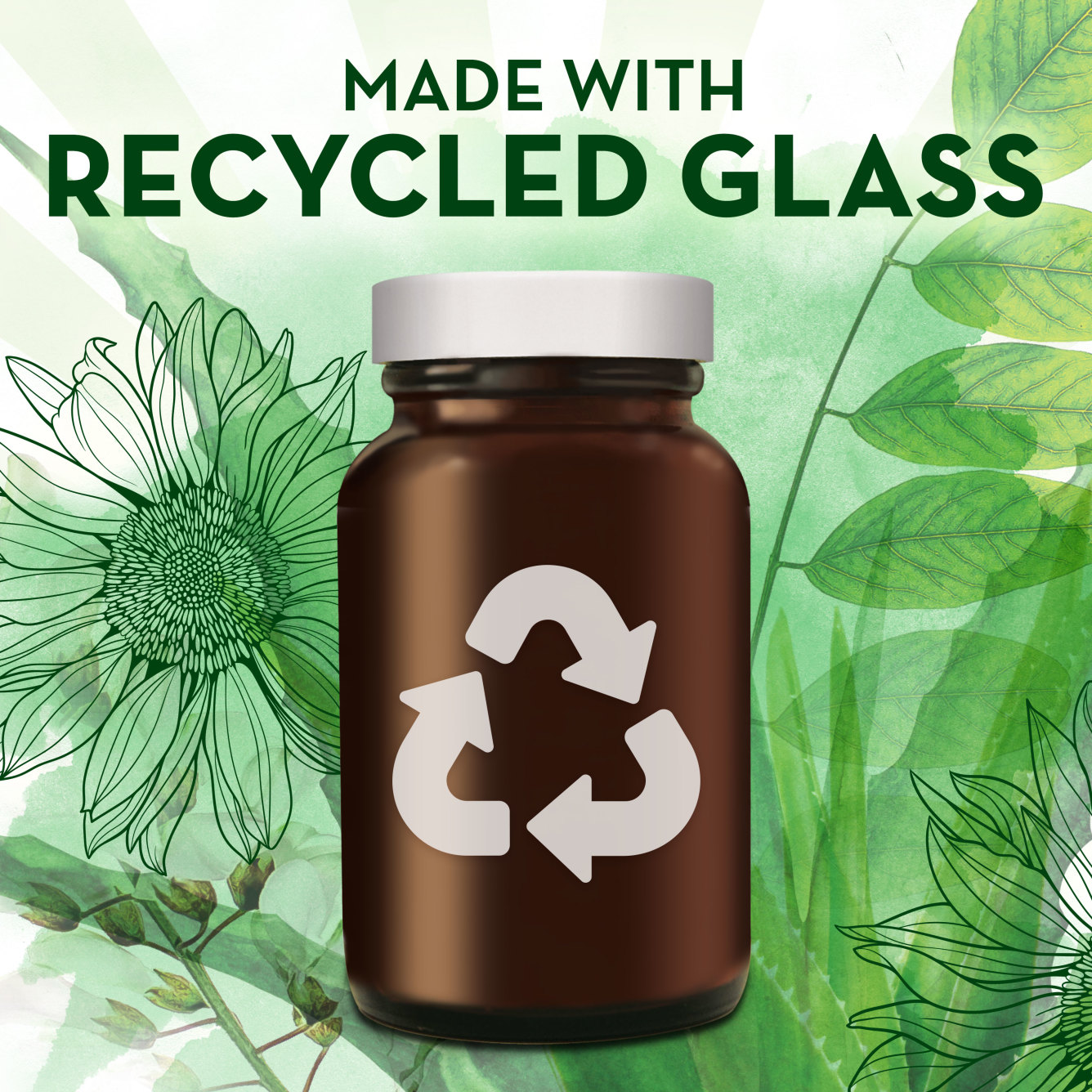Whole food made with recycled glass