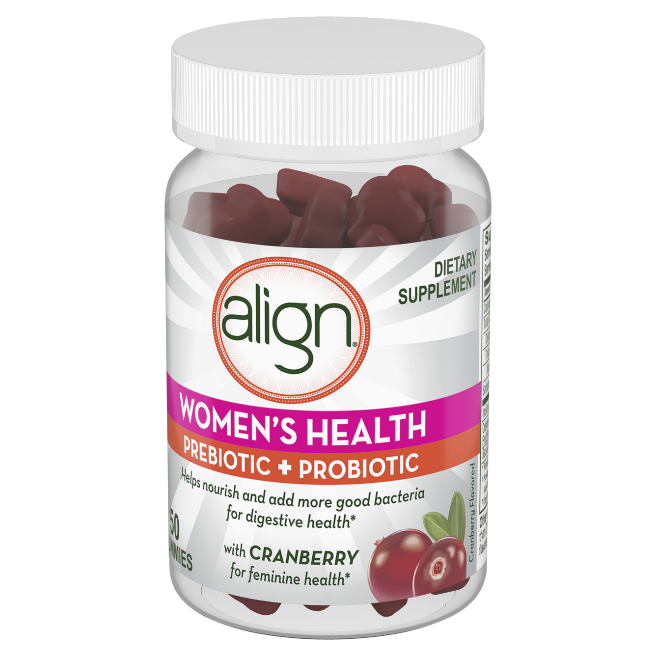 Women's Health Prebiotic + Probiotic gummies side