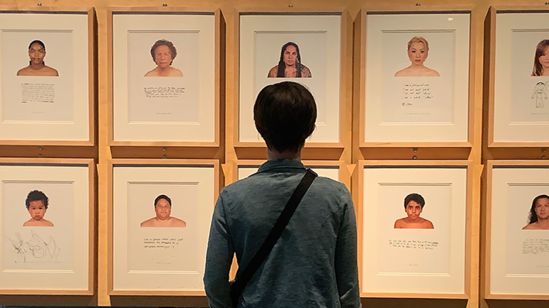 A person looking at photographs of faces in RACE: Are We So Different?