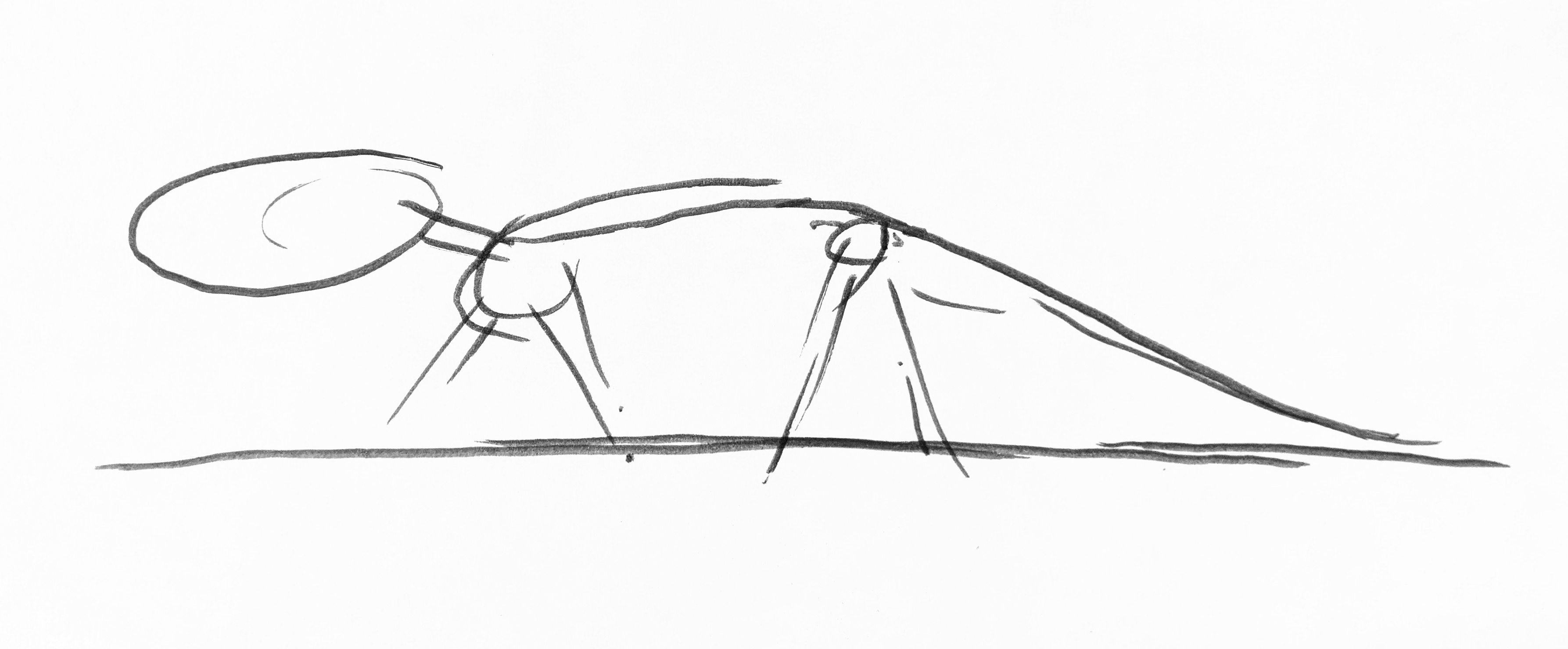 Simple line drawing of Borealosuchus