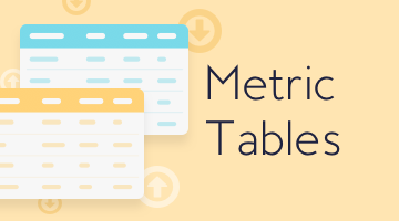Metrics Tables: 350+ SEO KPIs in Customized Reports