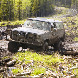 jeep in 4x4 off road driving SHT