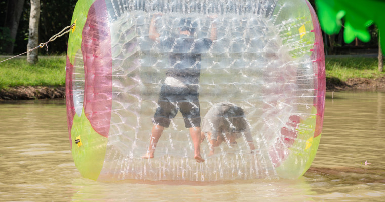 zorb rolling Riga Pissup Stag Do