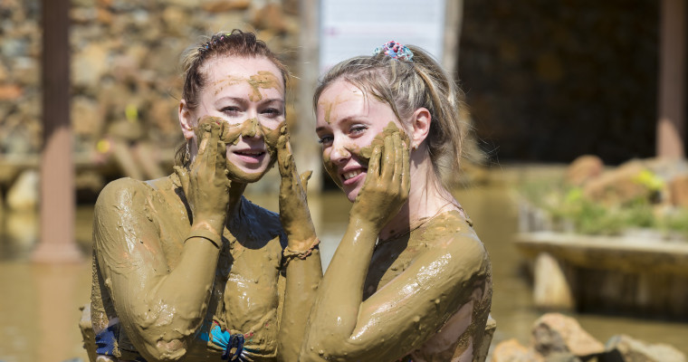 Girls and mud