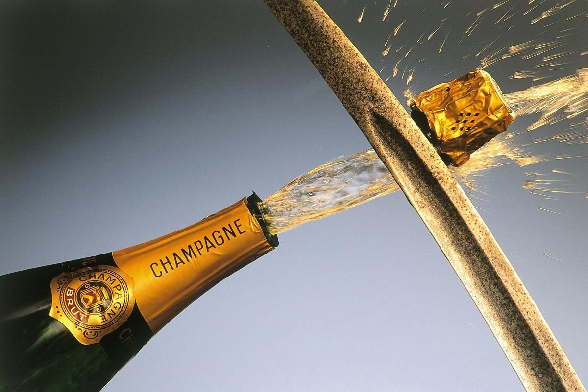 Champagne tasting and opening with Sabre