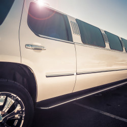 white ford escursion limousine from outside SHT