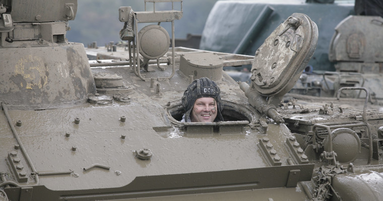 Driving a T55 tank