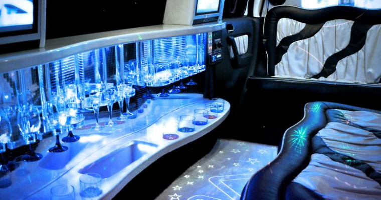 Limo interior - Amsterdam Stag Pissup