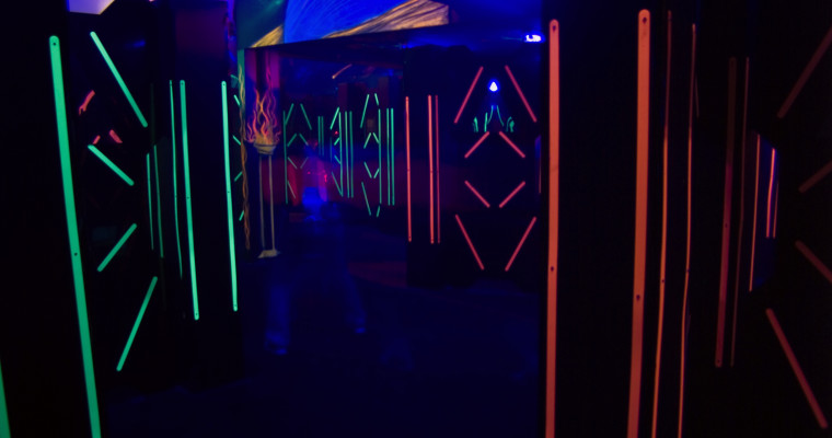 Laser game in Hamburg on stag do