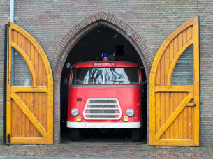 Fire Truck Party Bus in Amsterdam