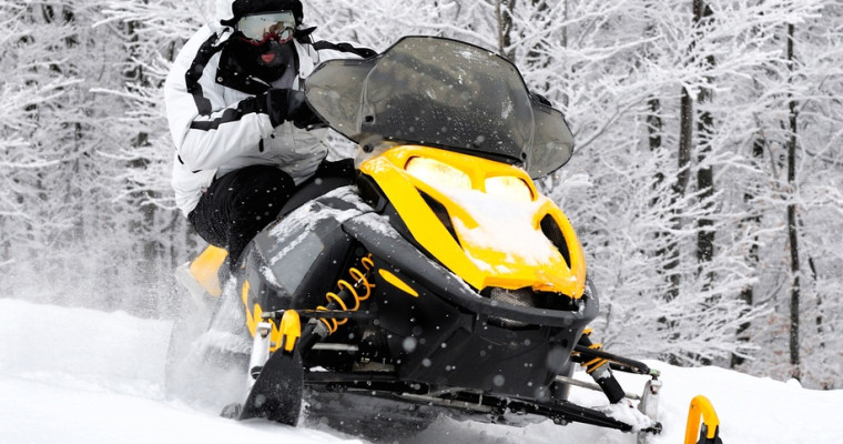 Snowmobile riding in Tallinn on Stag Do