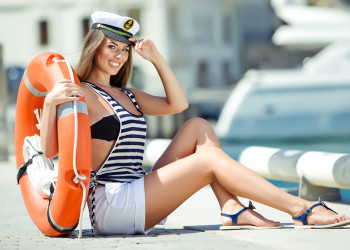 Sailor boat ship girl